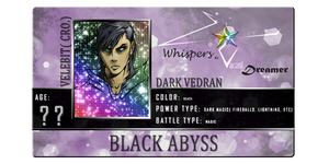 Whispers Of A Vacant Dreamer Application- Dark by veki-kun