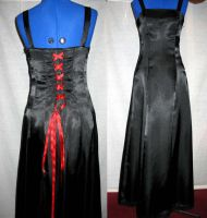 Black Satin Dress by Kenai36CF