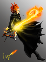 Axel's Keyblade by TripyChipy