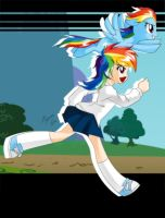 Rainbow Dash School by Shinta-Girl