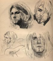 kurt cobain sketches by Myrrhiam
