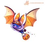 Daily Paint #1072. Halloween Delivery Service by Cryptid-Creations
