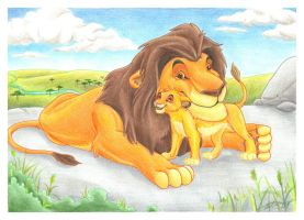 Muffy and Simba by Azerane