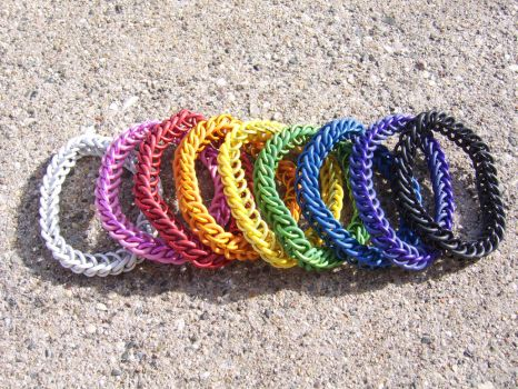 Stretchy Half-persian (3-in-1) bracelets, solid by ArcMoonblade