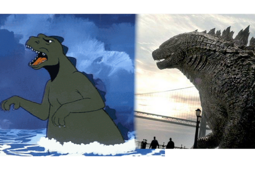Godzilla: Before and After by Crossovercomic