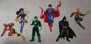 Perler Justice League by Proto-Kye