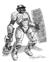 Soldier in power armour by ilya-b