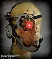 The Cyberenhancer cyborg DJ laser eye + Face piece by TwoHornsUnited