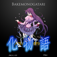 Bakemonogatari - Anime Icon by duckne55