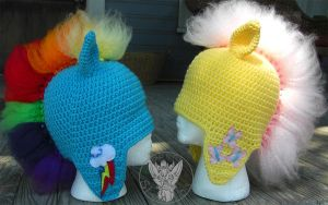 My Little Mohawks Set 1 by TheCrochetDragon