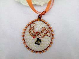 Birds pendant wire wrapping by Mirtus63