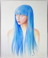 blue girl by ilonand
