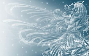 Winter's Angel - Wallpaper by rockgem