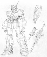 RGM-79SC GM Sniper Custom sketch by Blayaden