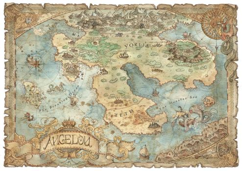 Angelou - Fantasy Map by FrancescaBaerald