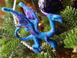 Needle felted Turquoise Dragon by Projectsubvert