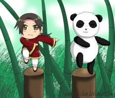 Art Trade: Panda training by ota-chan