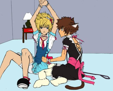 Atomic Clover Roxas and Sora by Magicalmog