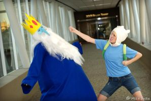 Eat my fist, Ice King! by lilylighting