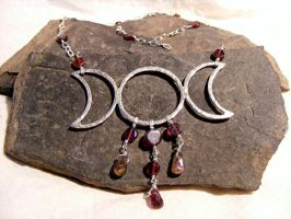 Garnet and Tourmaline Triple by MoonLitCreations