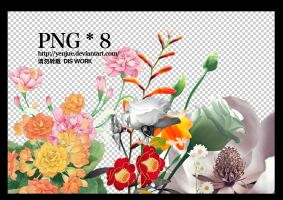 flower pngs by YENJUE