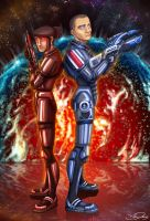 Mass Effect Shepards by CauseImDanJones