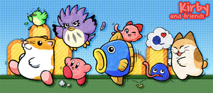 Kirby and Friends by CatchShiro