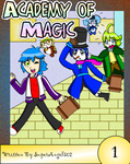 Academy of Magic Vol 1 cover by SuperAngel502