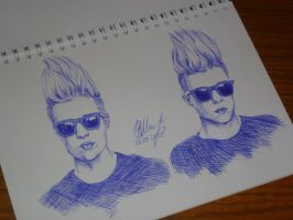 Jedward in pen by VictoriaSh