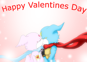LovemonXDxVeemon Happy Valentines day by HeroHeart001