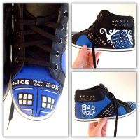 DOCTOR WHO T.A.R.D.I.S. shoes by BWCat