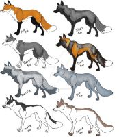 red fox variations, mutations by LightningMcQeen