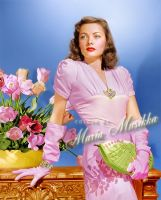Gene Tierney ~~ colourised by Maria-Musikka