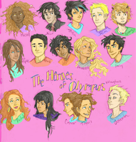 The Heroes of Olympus [Colored with Background] by thelyssymarie