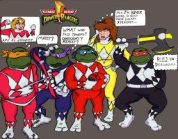 Teenage Mutant Power Rangers by oldmanwinters
