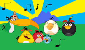Angry birds listen to classic music by CarlosAshgalde