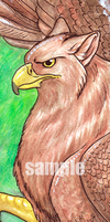 Gryphon Bookmark by Kitsune--Rin