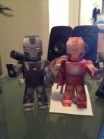 War Machine and Iron Man! by jeffreyportnoy