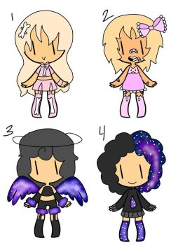 AUCTION - Pastel and Galaxy Adopts - CLOSED by CheapClothesAdopts