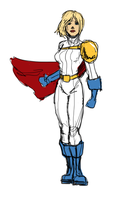 Power Girl redesign by Agent-Foo