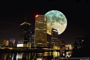Tampa Moon by BPhotographic