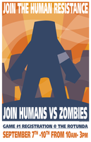 Humans Vs Zombies Poster by RockyRoark