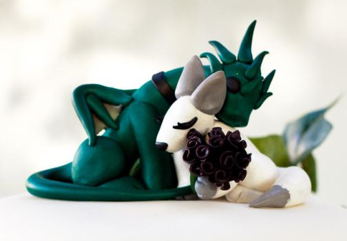 Dragon Fox Cake Topper by Kayru-Kitsune