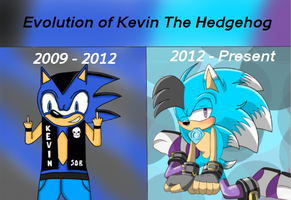 Evolution of Kevin the hedgehog by Kevster823