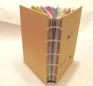 Handmade Paper Coptic Journal by DoodleBugCreations