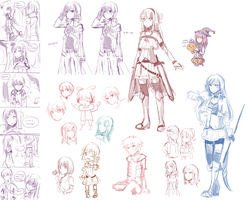 Doodle Dump - Sword Art Online, DoN, UTAU, etc by cakerolls