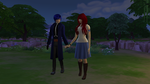 Jellal and Erza in Game TheSims4 by ng9