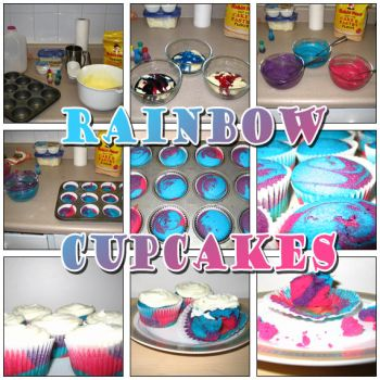 Rainbow Cupcakes by Zimmette
