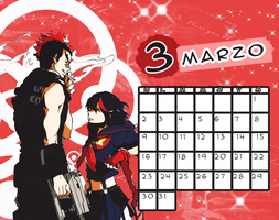 Calendario|Marzo2014 by athenayabuki