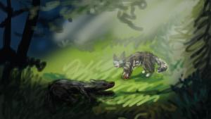 Forest Scene by Nightfeather123